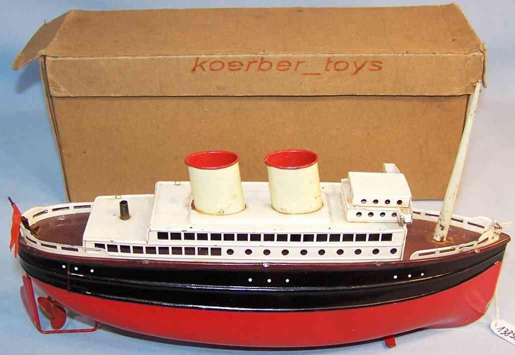 fleischmann 830/27 tin toy ship passenger steamer