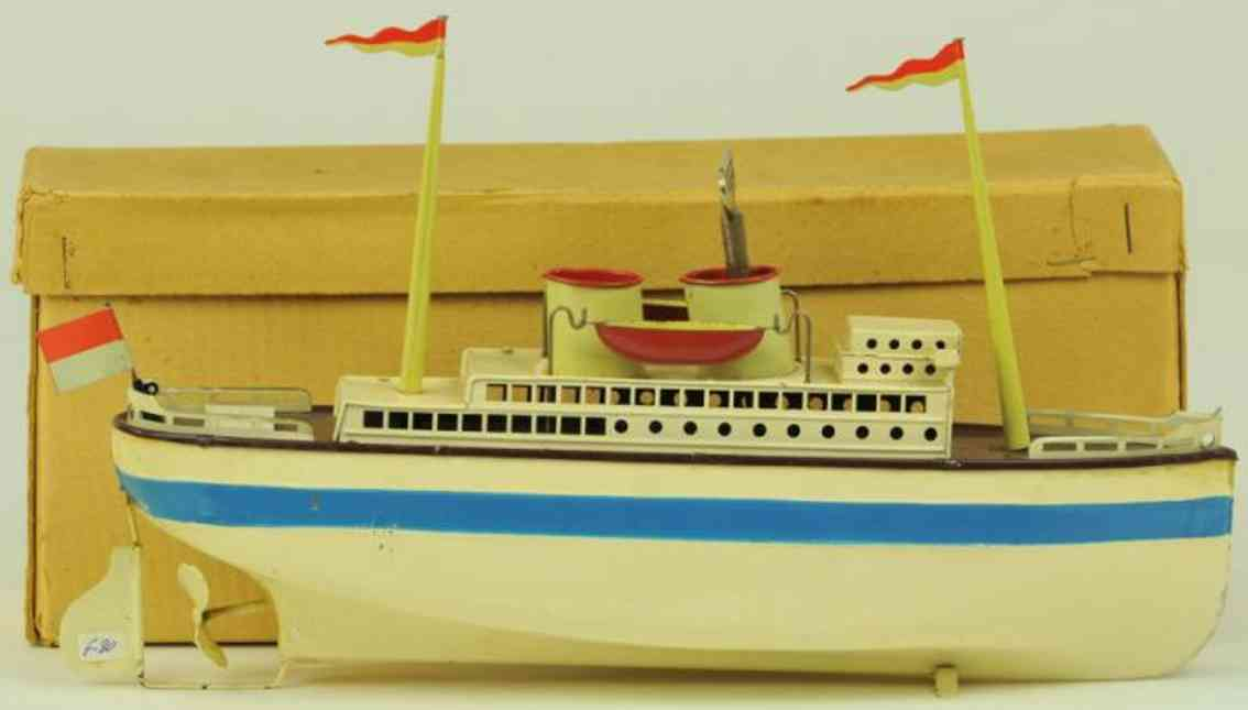 fleischmann 830/30 tin toy ship passenger steamer clockwork