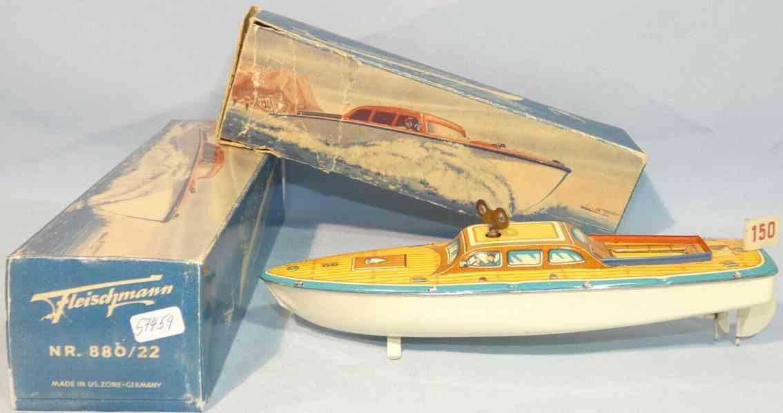 fleischmann 880/22 tin toy racing boat clockwork