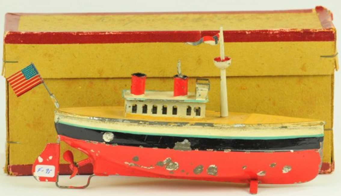 fleischmann 950 tin toy ocean liner clockwork