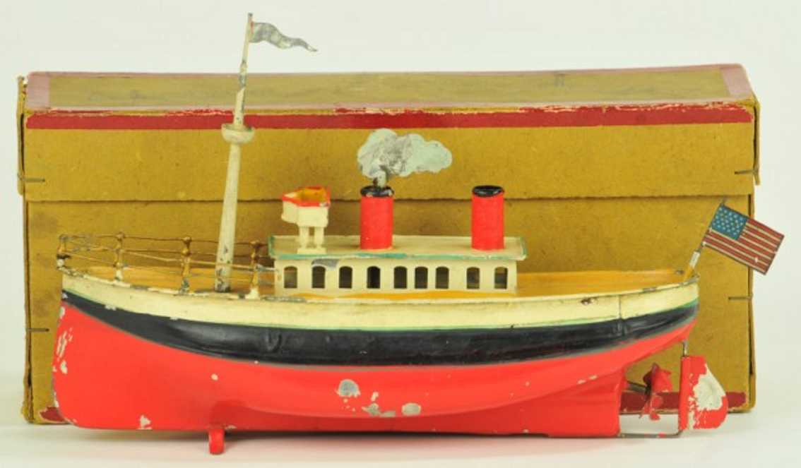 fleischmann 952 tin toy ocean liner clockwork