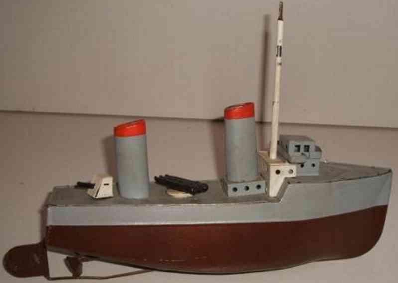 fleischmann blech spielzeug torpedo-kanonenboot mit uhrwerk