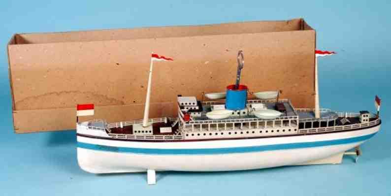 fleischmann 856 tin toy ship tourist steamer