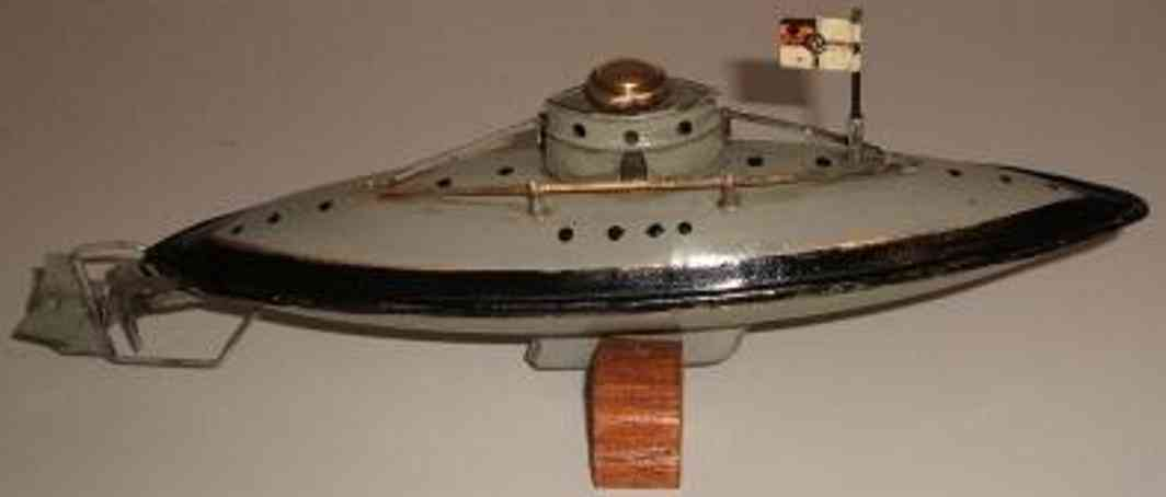 fleischmann 660/20 tin toy submarine clockwork