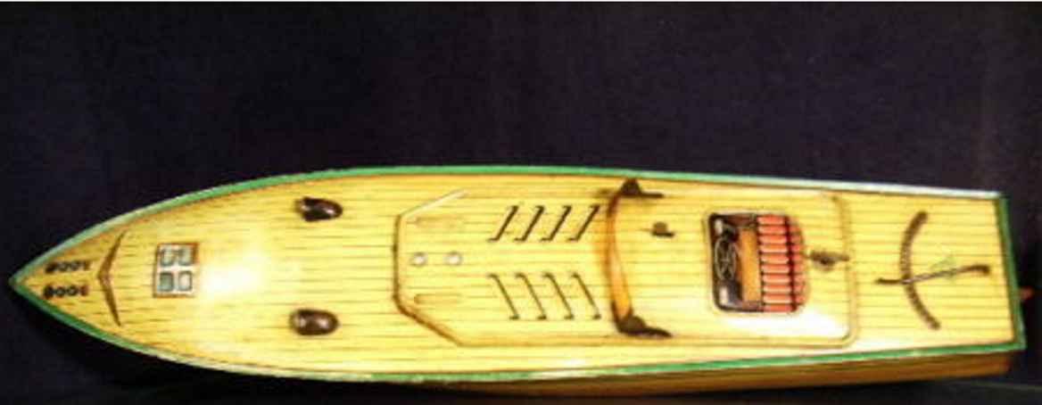 foertner & haffner blech spielzeug sportboot rennjacht anfoe