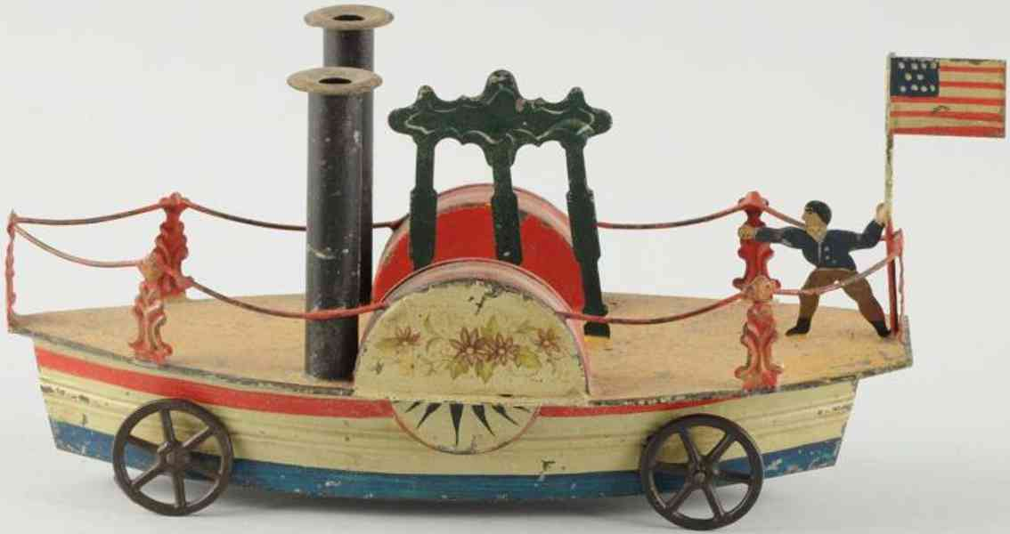 francis field and francis tin toy side wheeler