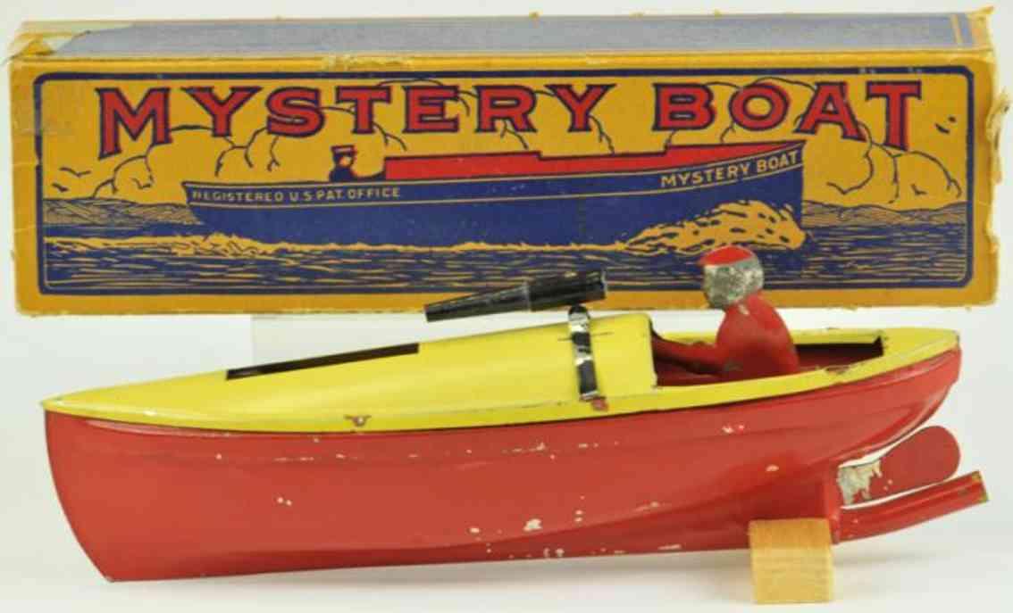 gobar products blech spielzeug schiff put-put mystery schnellboot kanone