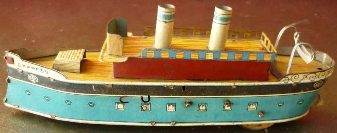 greppert & kelch 527 blech spielzeug ozeandampfer uhrwerk