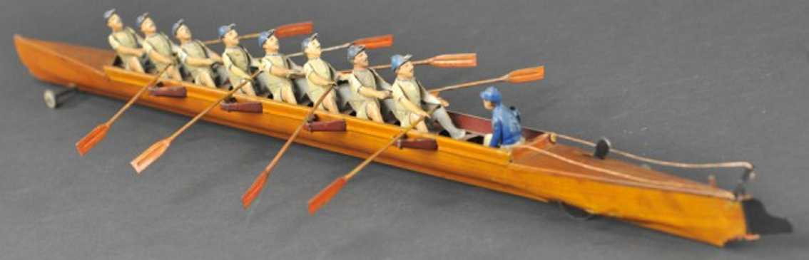 gunthermann tin toy eight man scull with coxswain