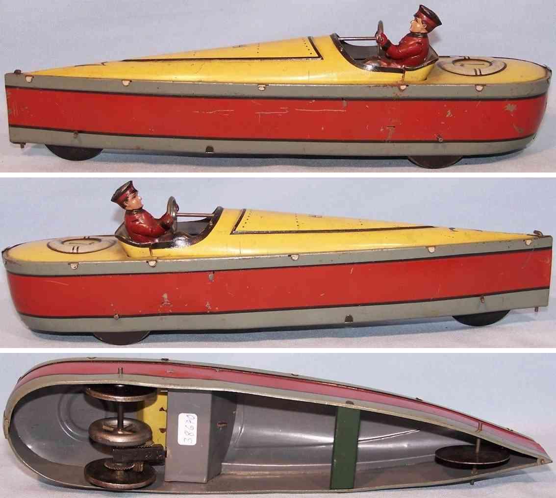 hess blech spielzeug rennboot nr 7