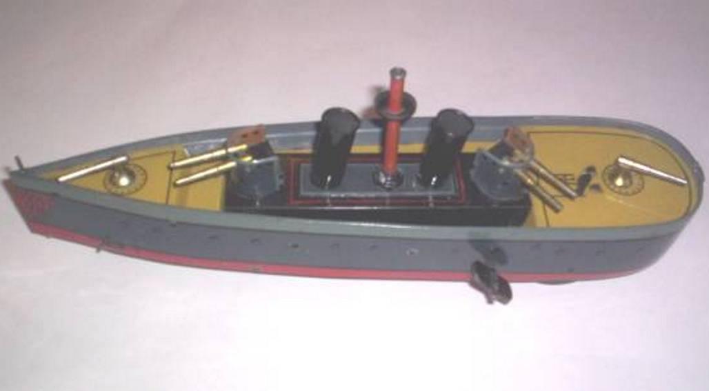hess blech spielzeug kanonenboot uhrwerk
