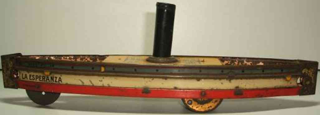 hess tin toy ship ground runner  ala esperanza