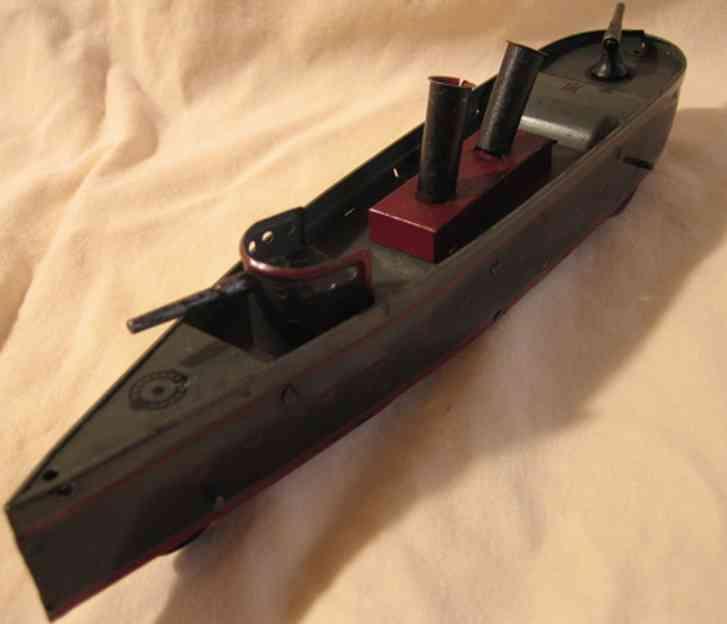 hess blech spielzeug kanonenboot schwungrad