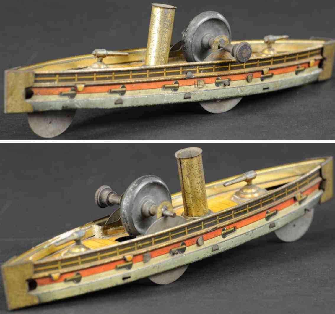 hess tin ship gun boat as floor toy