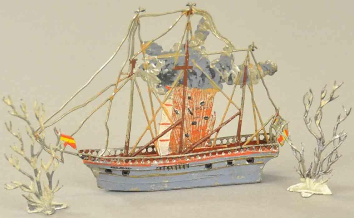 heyde blei spielzeug explodierendes schiff