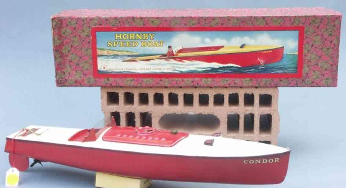 hornby 3 blech spielzeug schnellboot condor uhrwerk