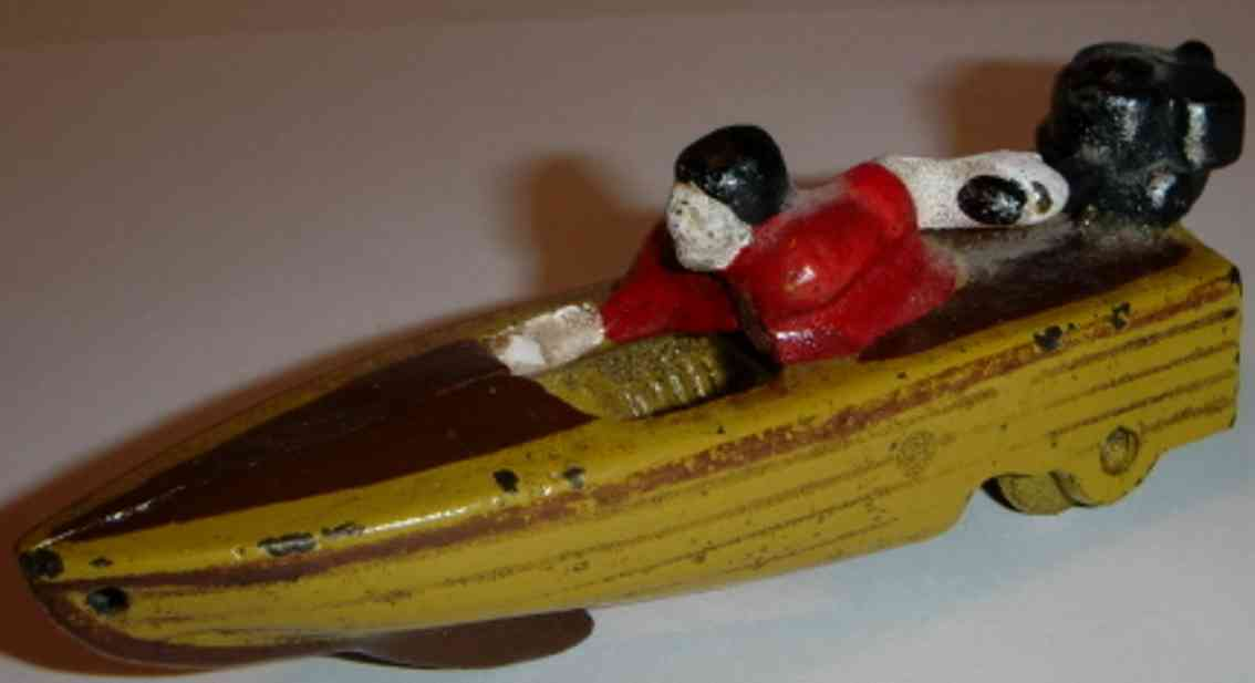 hubley cast iron toy ship boat driver