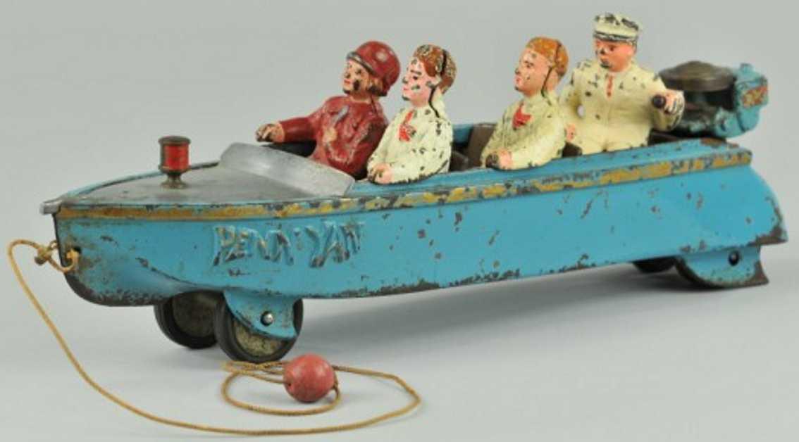 hubley spielzeug gusseisen penn yan schnellboot
