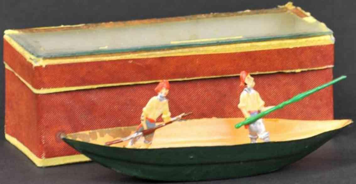 issmayer tin toy river boat two men