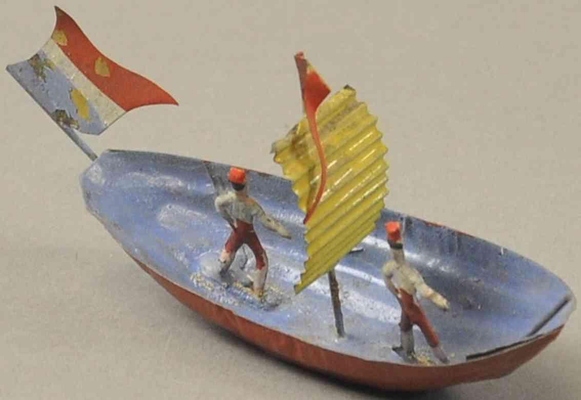 issmayer blech spielzeug segelboot mit zwei matrosen