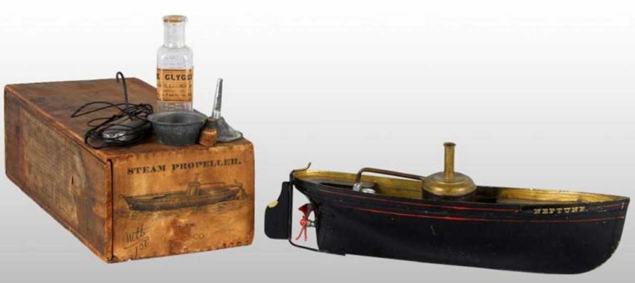 ives 326 blech spielzeug dampfpropellerschiff neptun