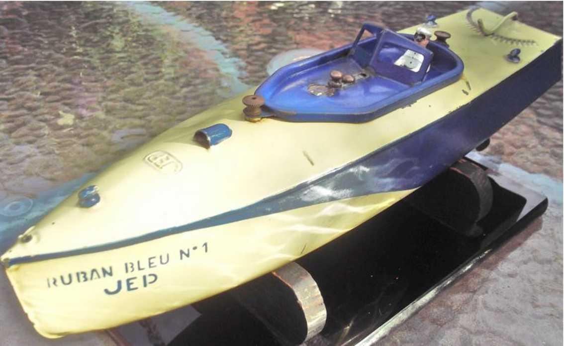 jep blech spielzeug rennboot ruban bleu no 1