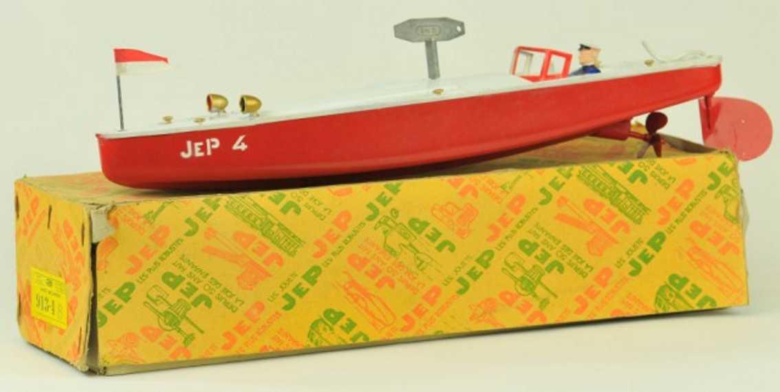 jep 913-4 tin toy ship speed boat