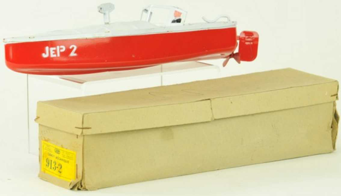 jep 913/2 tin toy ship speedboat