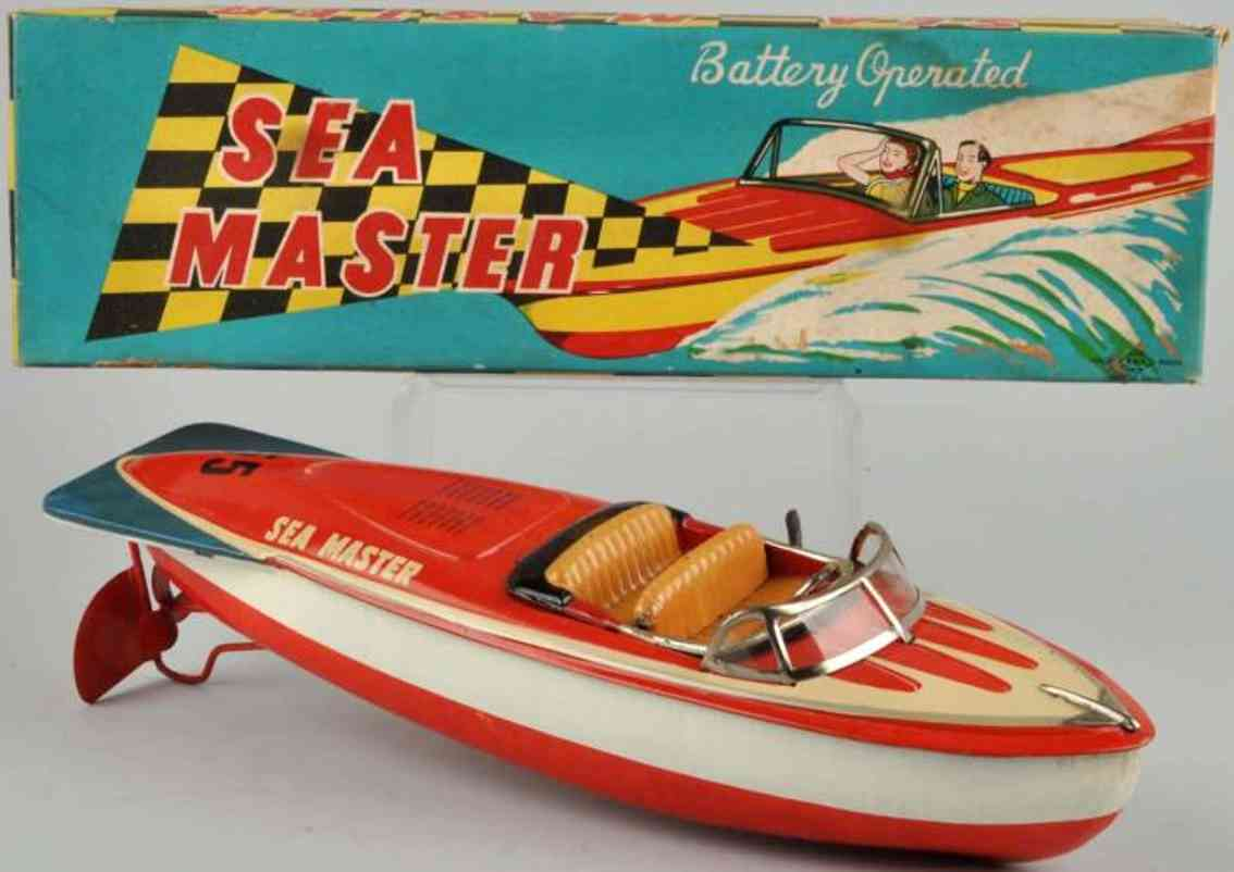kato sairen kkk tin toy sea master boat battery-operated white red