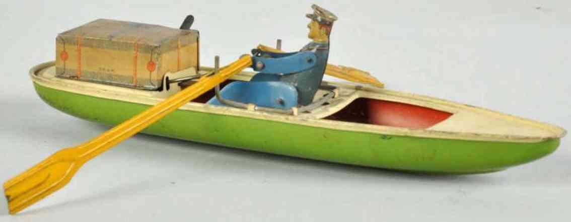 kellermann 325 blech spielzeug ruderboot uhrwerk