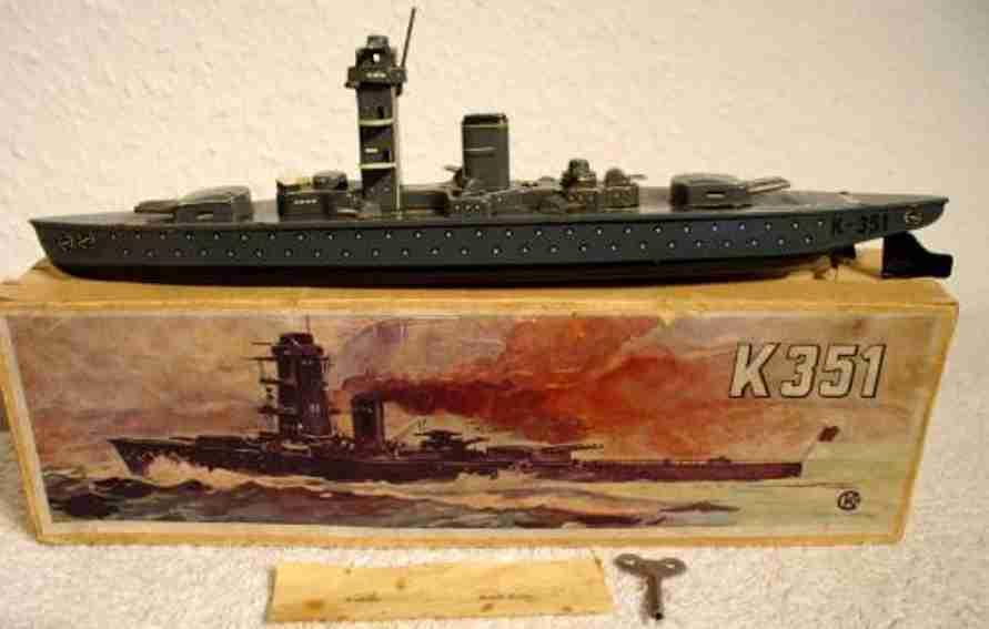 kellermann 351 blech spielzeug schiff panzerschiff uhrwerk
