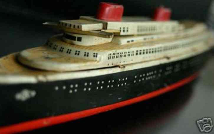 kellermann blech spielzeug schiff ozeandampfer uhrwerk