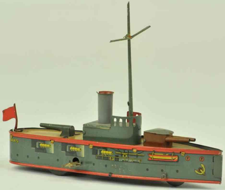 mohr & krauss blech spielzeug kriegsschiff uhrwerk