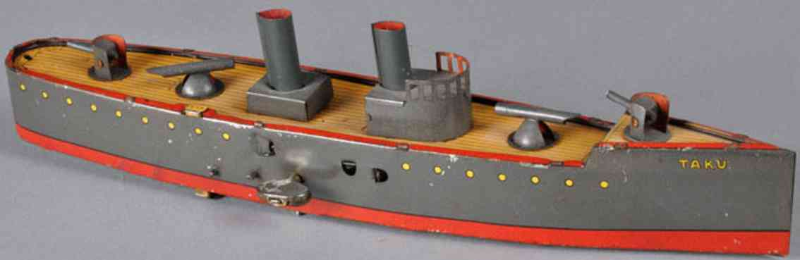lehmann 671 tin toy taku torpedo boat dark grey