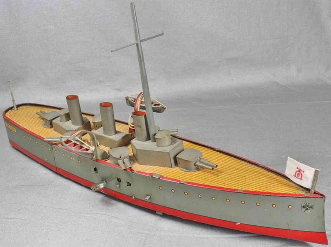 lehmann 729 tin toy warship emden
