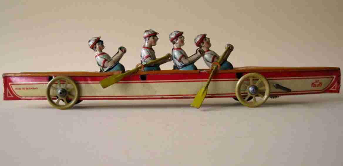 levy george gely vierer blech spielzeug ruderboot vier ruderer uhrwerk