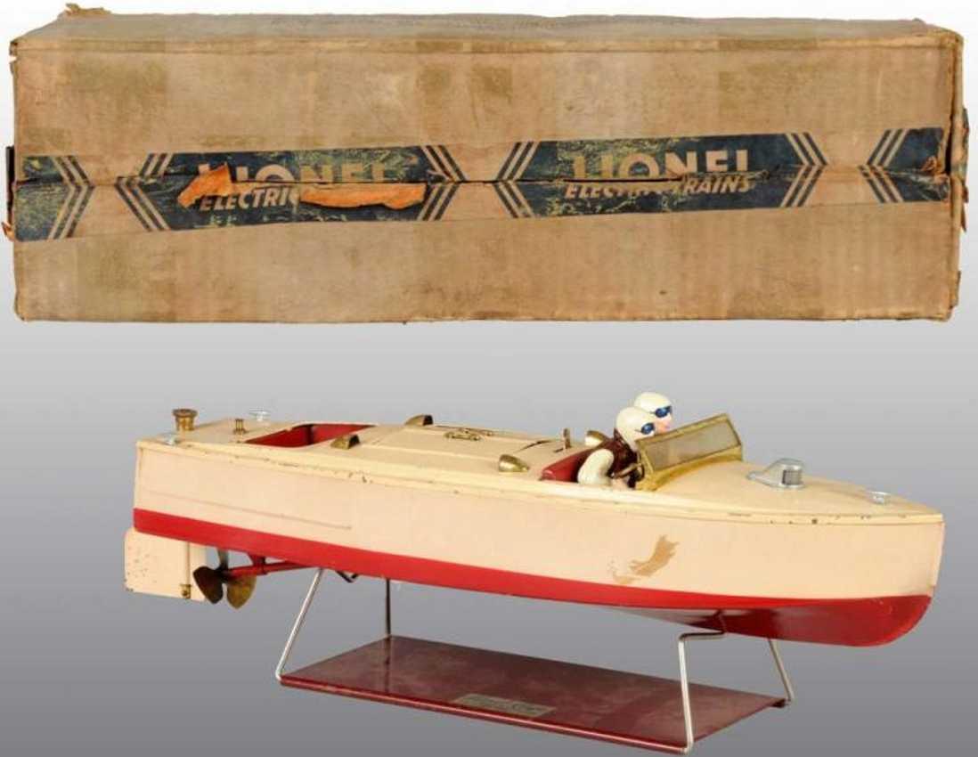 lionel 43-9 blech spielzeug motorboot uhrwerk rennboot