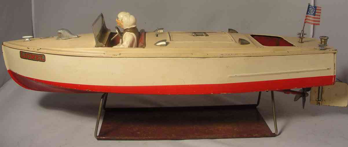 lionel tin toy ship craft motor boat wind-up
