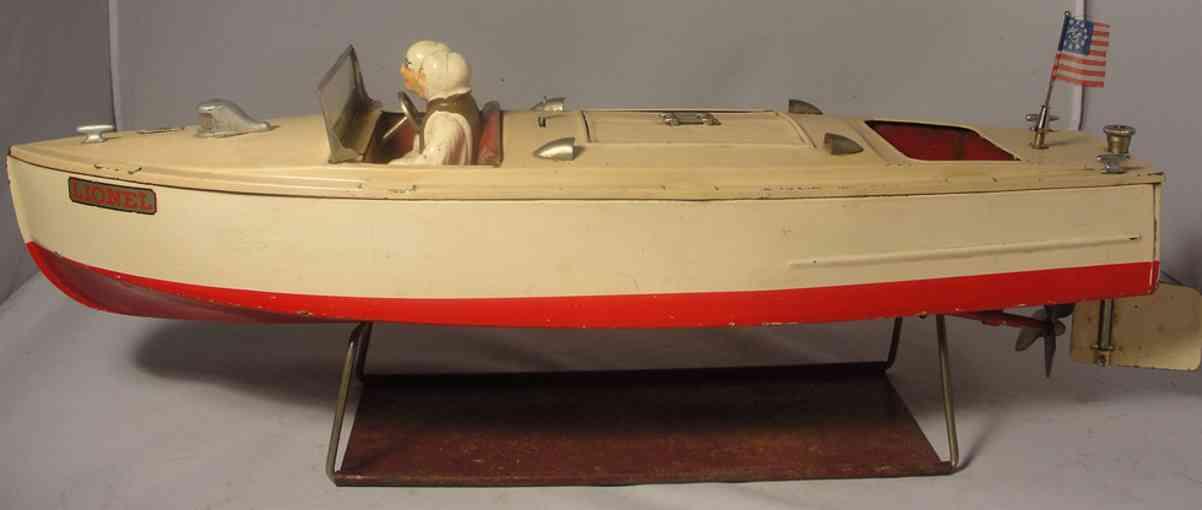 lionel blech spielzeug motorboot uhrwerk