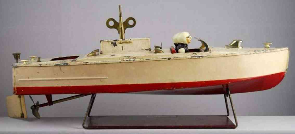 lionel tin toy motor boat wind-up toy craft