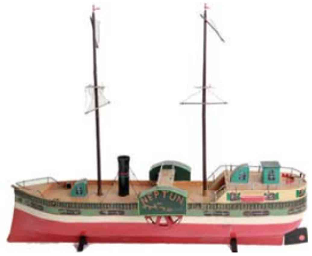 lutz tin toy paddle steamer neptun without drive