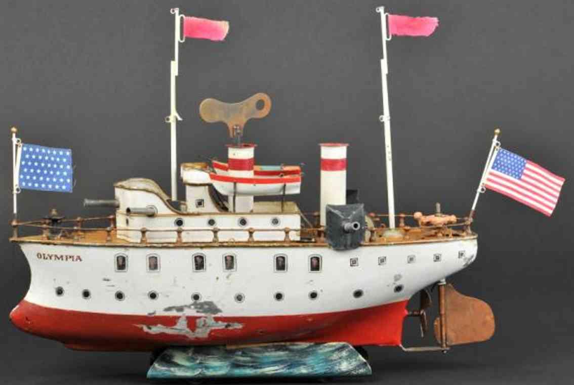 maerklin 1033 blech spielzeug schiff kanonenboot olympia