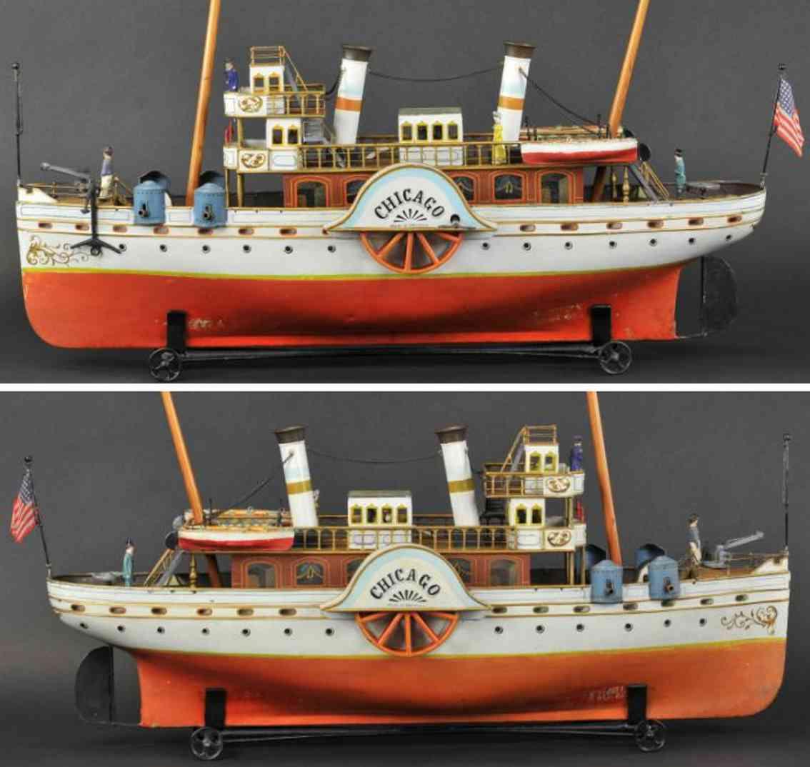 maerklin 1080/2 blech spielzeug schiff drddampfer chicago