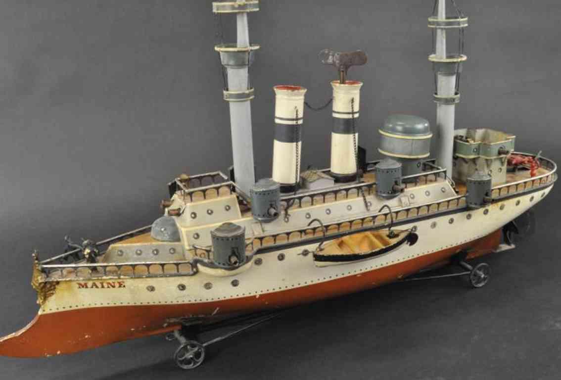 maerklin 1092 blech spielzeug kriegsschiff maine erste serie
