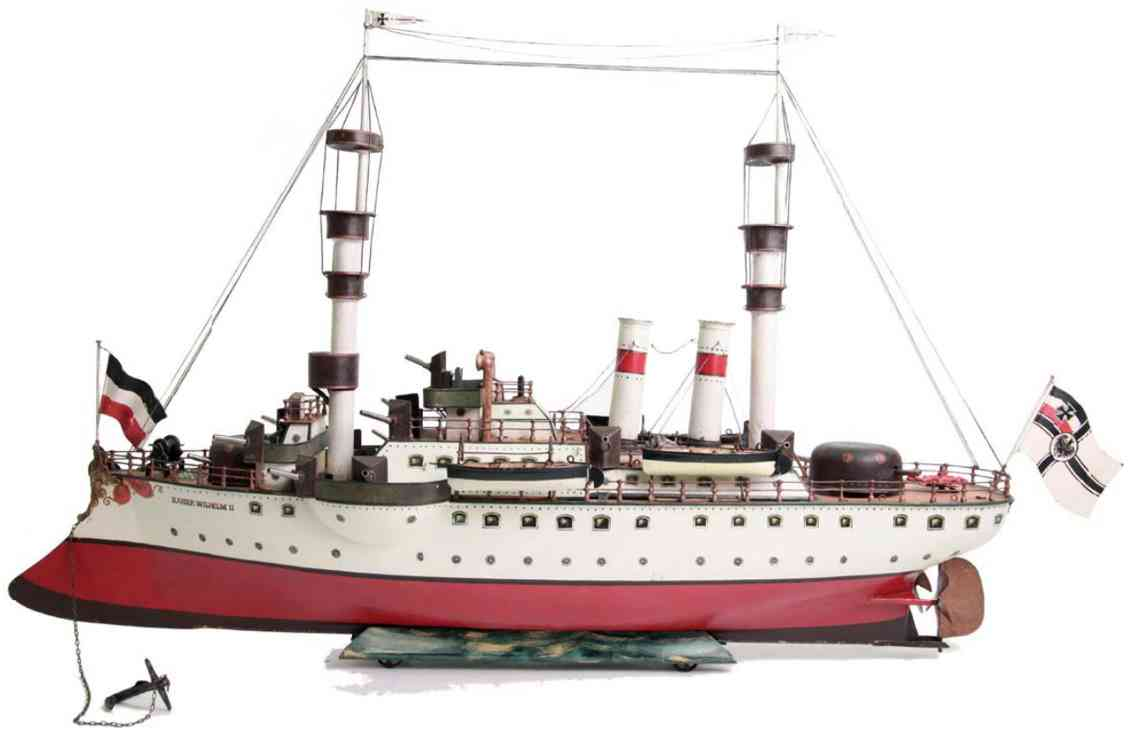 marklin maerklin 1096 kaiser wilhelm tin toy warship double-screw steamer