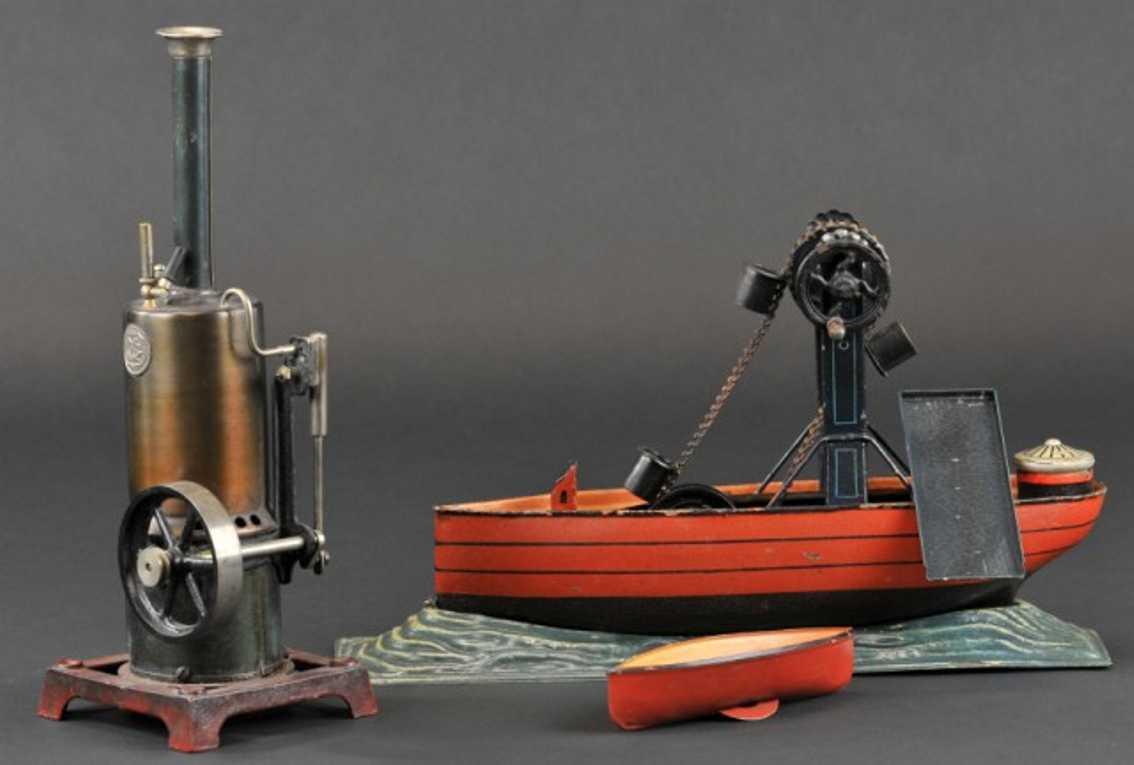maerklin 4322 blech spielzeug baggerschiff dampfmaschine 4116