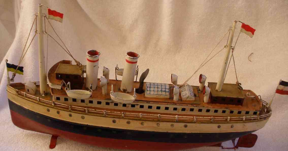 maerklin 5026/37 blech spielzeug schiff passagierdampfer uhrwerk
