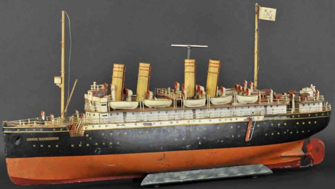 maerklin 5050/9 blech schiff ozeandampfer george washington uhrwerk