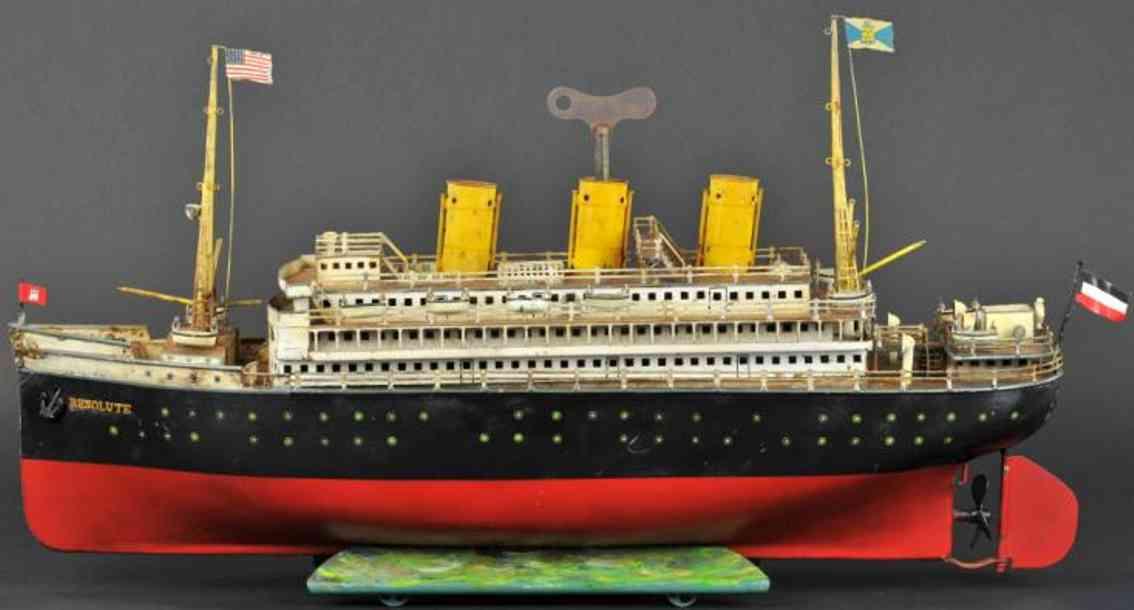 maerklin 5057/7 blech spielzeug schiff ozeandampfer resolute