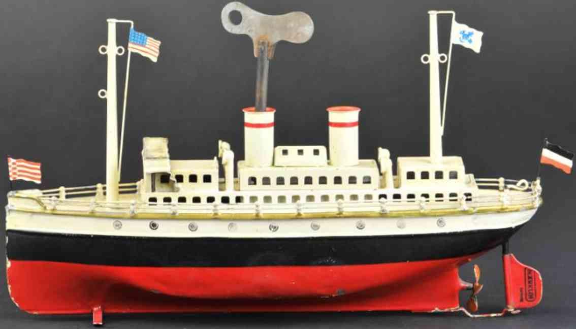 maerklin 5062/29 blech spielzeug schiff ozeandampfer uhrwerk